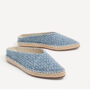 Zara denim Mules/slides